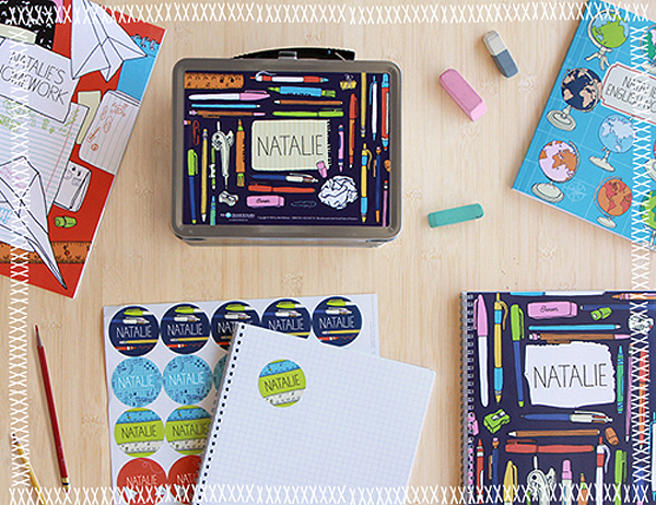 Back-to-School Personalized Supplies designed by Julia Rothman