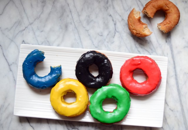 Olympic Ring Doughnuts by Pixel Whisk