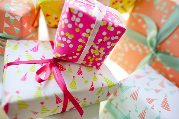 Fig. 2 Design Gift Wrap - Confetti, Pennants, and Party Hats