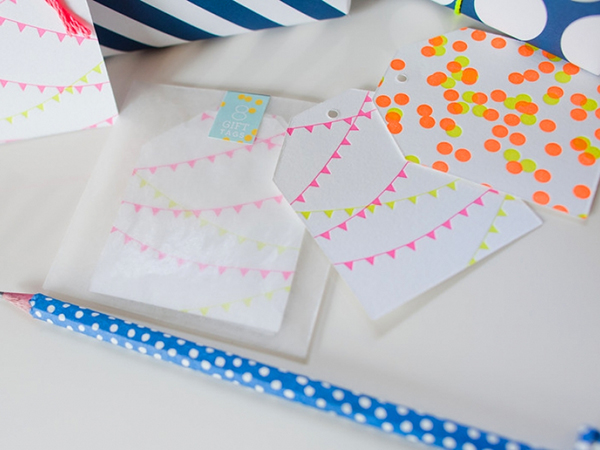 Neon Letterpress Gift Tags by Fig. 2