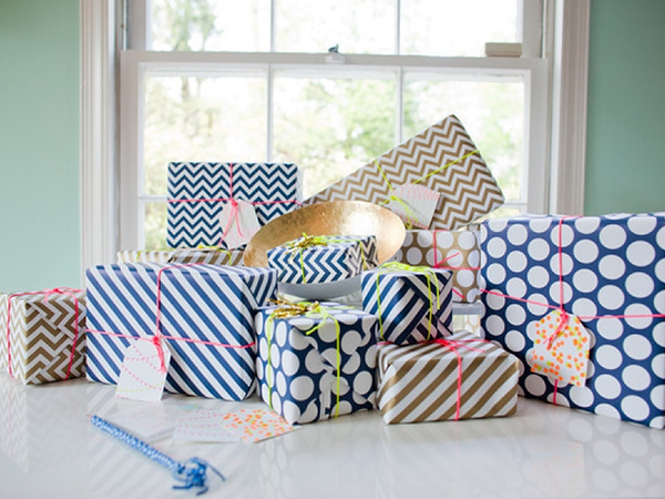 Fig. 2 Design Gift Wrap - Stripes, Dots, Chevrons