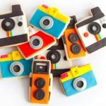 Camera Cookies Gift Box by Manjar