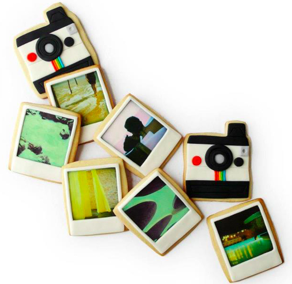 Polaroid Photo Custom Cookies by Manjar