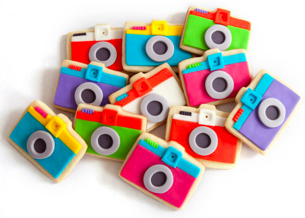 Mini Diana Camera Cookies by Manjar