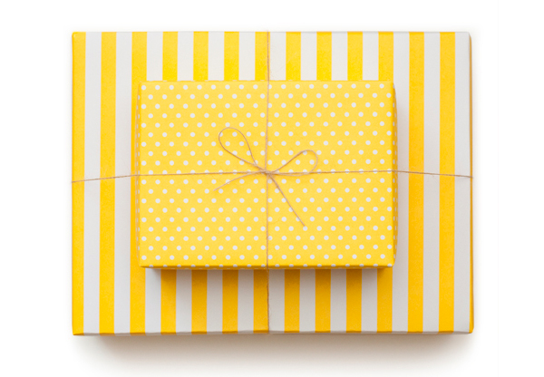 Sugar Paper Reversible Wrapping Paper  Sunshine Yellow