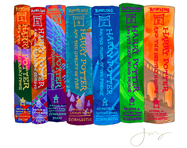 Ideal Bookshelf: Harry Potter by Jane Mount