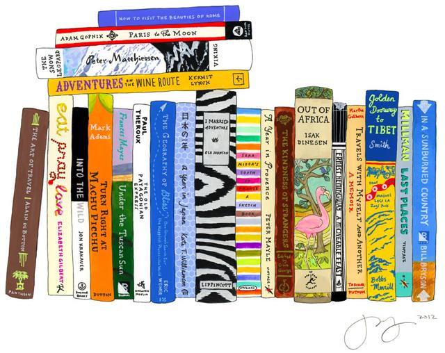 Ideal Bookshelf: Travel by Jane Mount