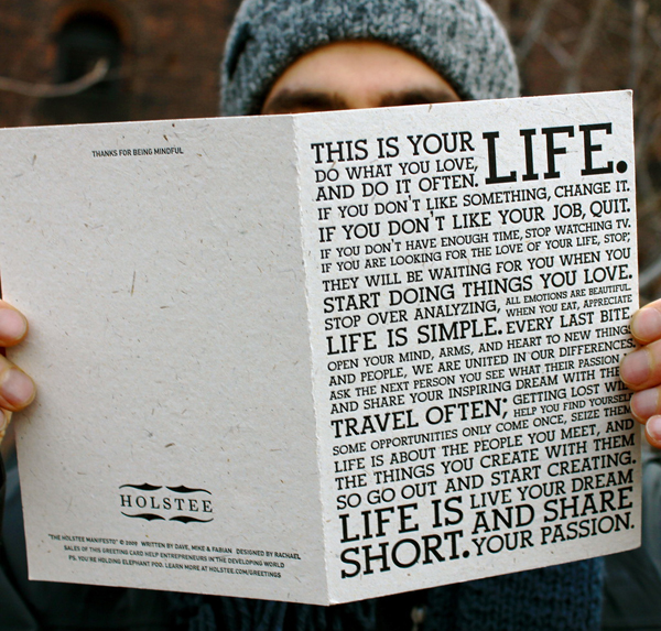 Holstee Manifesto Greeting Card
