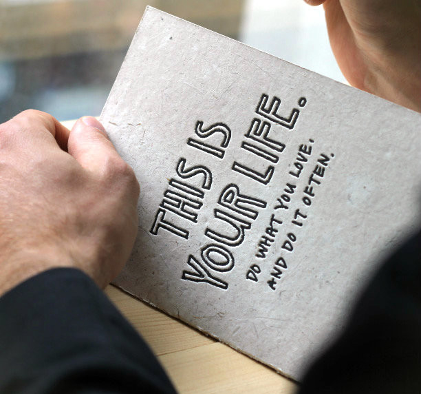 Holstee Manifesto Greeting Cards by Yoko