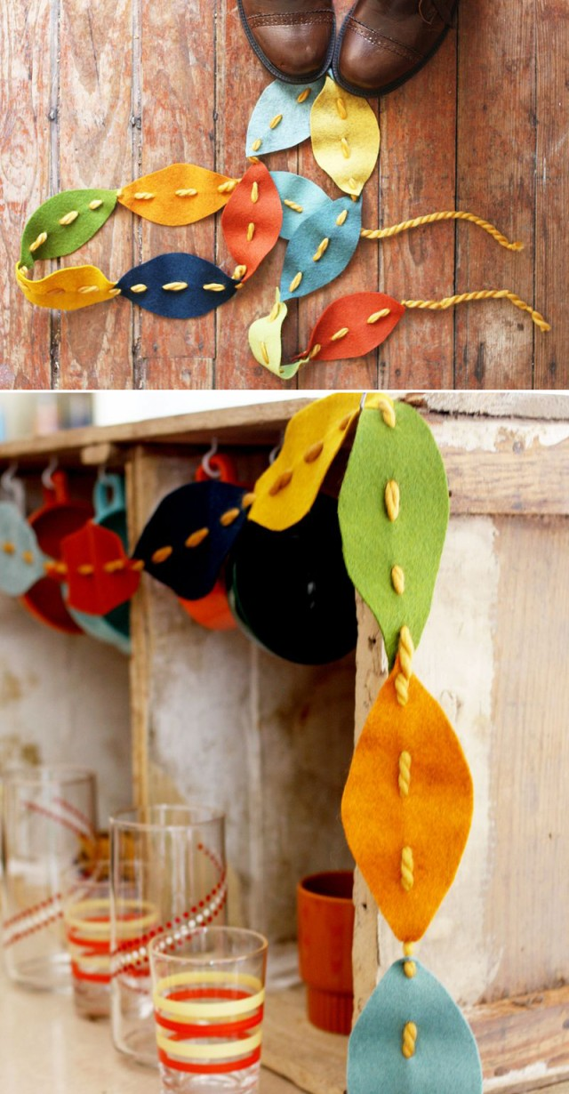 Felt Fall Leaves Garland by El