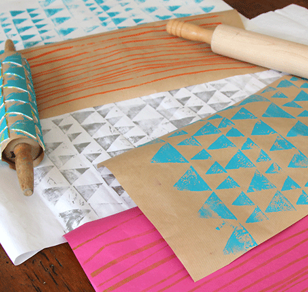 DIY Printmaking with Rolling Pins by EcoSalon