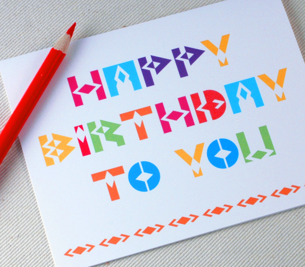 Happy Birthday Card by Oh Geez Design