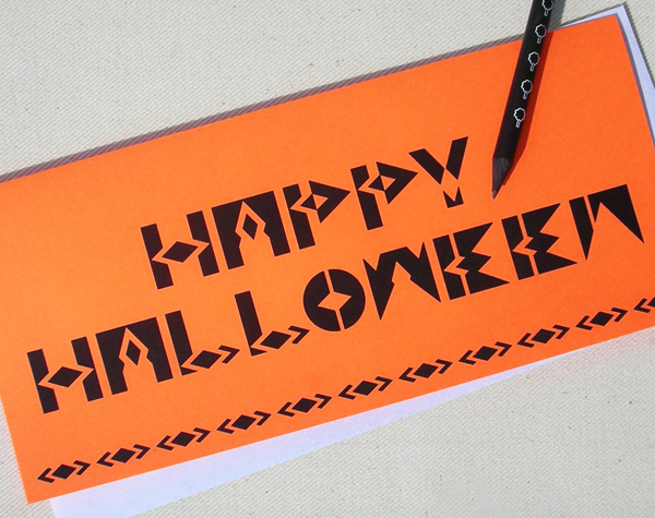 Happy Halloween Card by Oh Geez Design