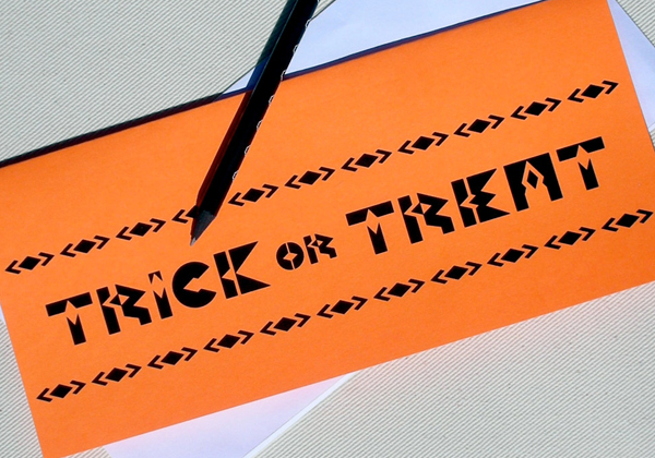 Trick or Treat Card by Oh Geez Design