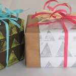DIY Rolling Pin Printed Wrapped Gifts by EcoSalon