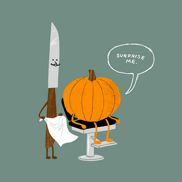 Surprise Me Halloween Illustration by Brock Davis