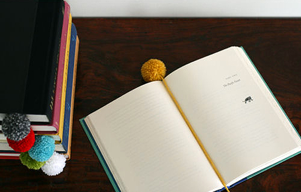 DIY Yarn Ball Bookmark by SeeJaneBlog for Design Mom