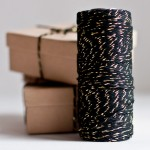 Gold &amp; Black Baker&#039;s Twine from Knot &amp; Bow