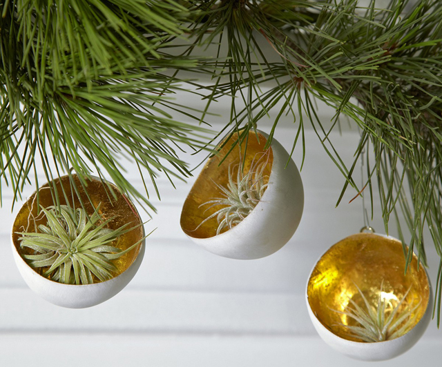 Gold Leaf Cup Christmas Ornament by Flora Grubb