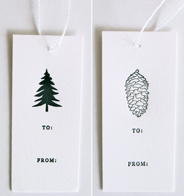 Letterpress Gift Tags by In Haus Press