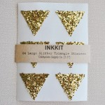 Gold Glitter Triangle Stickers by Inkkit