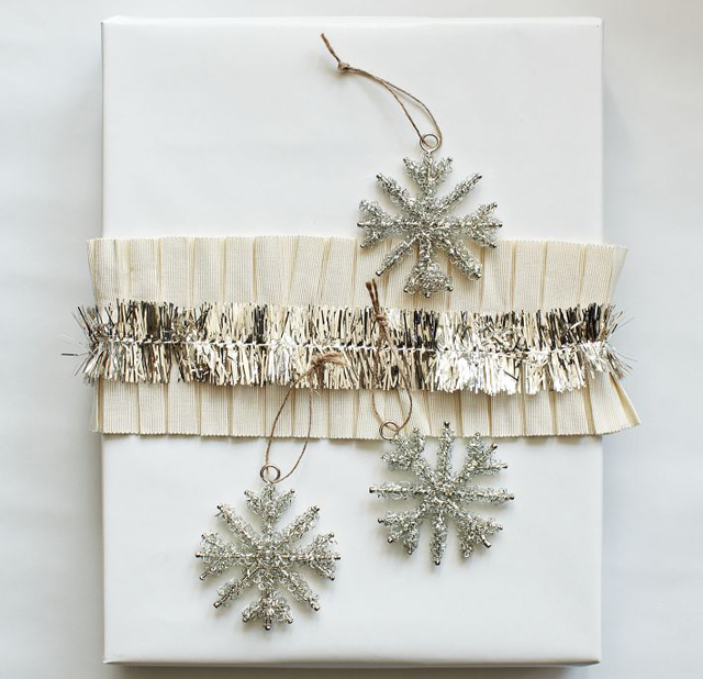 Tinsel Snowflake Set from West Elm